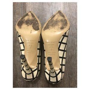 kate spade Shoes - Kate Spade Striped Patterned Heels